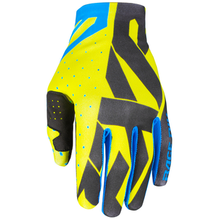 FXR Slip On Lite , MX Glove - Hi Vis/black/blue