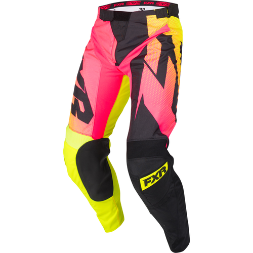 FXR Clutch Podium Motocross Pants - Hivis/coral Fade/black