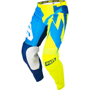 Spodnie MX FXR Clutch Podium - Navy/blue Fade/hivis