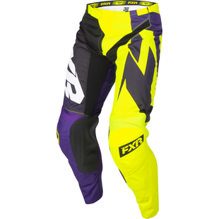 FXR Clutch Podium , MX-bukser - Purple/black Fade/hivis