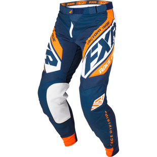 Spodnie MX FXR Revo - Dark Navy/white/orange