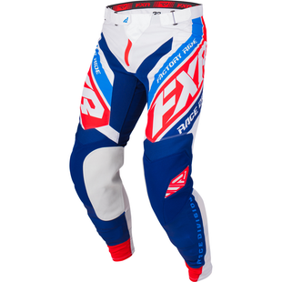 FXR Revo Motocross Pants - White/navy/red/blue