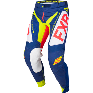 FXR Helium Le , MX-bukser - Navy/lt Grey/red/hivis