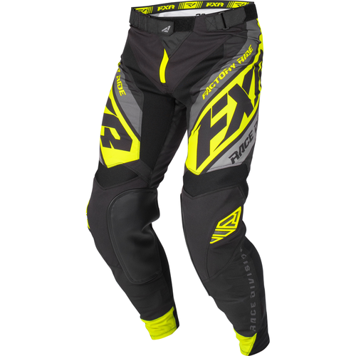 FXR Helium Motocross Pants - Black/char/grey/hivis