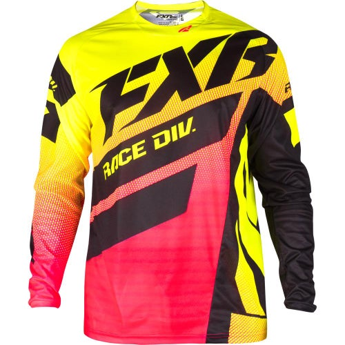 Jerseys MX FXR Clutch Podium - Hivis/coral Fade/black