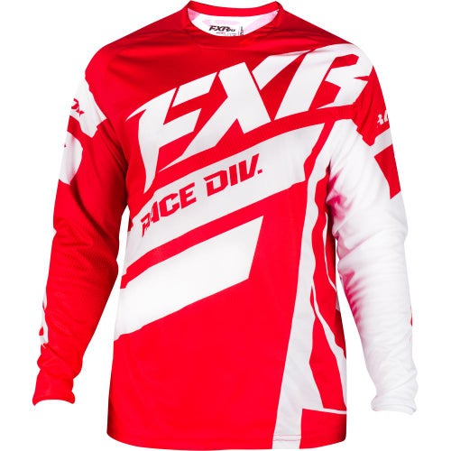 Jerseys MX FXR Clutch Podium - Maroon/red Fade/white