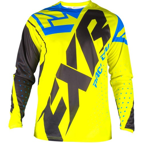 FXR Clutch Prime Motocross Jerseys - Hivis/black/blue