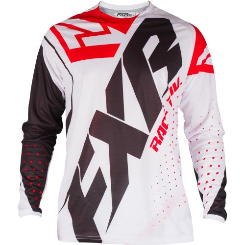 FXR Clutch Prime Motocross Jerseys - White/black/red