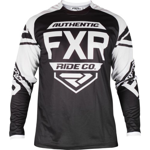 FXR Clutch Retro Motocross Jerseys - Black/white