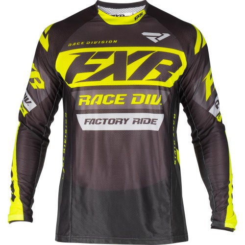 Jerseys MX FXR Revo - Black/char/hivis/grey