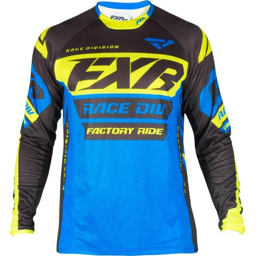 FXR Revo Motocross Jerseys - Blue/black/hivis