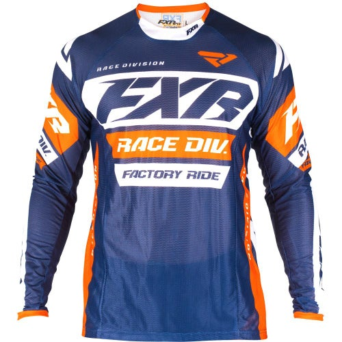 Jerseys MX FXR Revo - Dark Navy/white/orange
