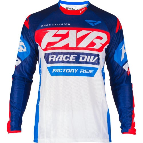 Jerseys MX FXR Revo - White/navy/red/blue