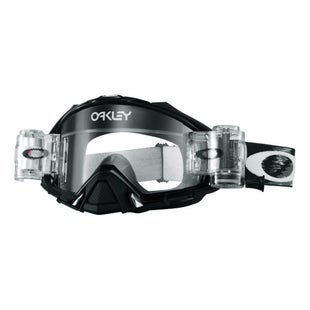 Oakley Mayhem Pro Roll Off MX Motocross Jet Black Motocross Goggles - Clear