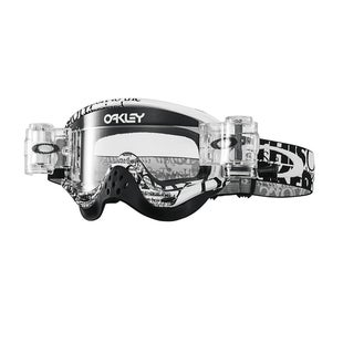 Oakley O Frame Roll Off MX Motocross Tagline Black Motocross Goggles - Clear
