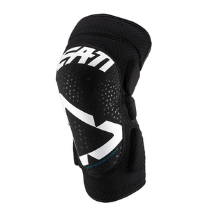 Leatt JUNIOR 3DF 50 MX Motocross and Enduro Knee Guard Boys Knee Protection - White Black