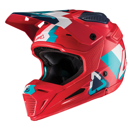 Leatt GPX 5.5 Composite YOUTH Enduro and Boys Motocross Helmet - Red Teal