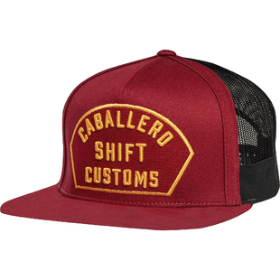 Shift Caballero X Lab Snapback Cap - Dark Red