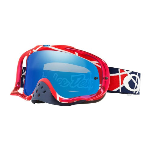 Masque MX Oakley Crowbar Troy Lee Designs Metric Black Ice - rowbar Goggle TLD Signature Metric Red White W Black Ice Iridium