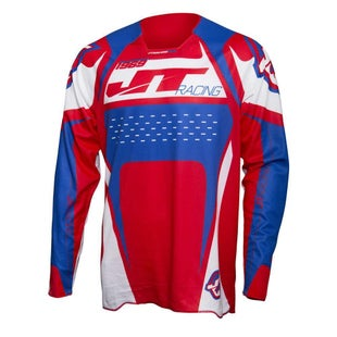 JT Racing JT Racing Protek Trophy Jersey Blue White Red Motocross Jerseys - XLarge