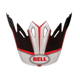 Bell Replacement Moto 9 Peak Spark Red Black Helmet Peak - eplacement Moto 9 Peak (Spark Red Black)