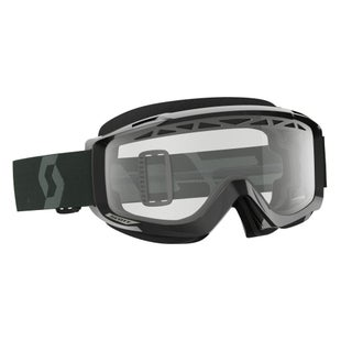 Scott Sports Split OTGEnduro Goggles Black White Motocross Goggles - Clear Lens