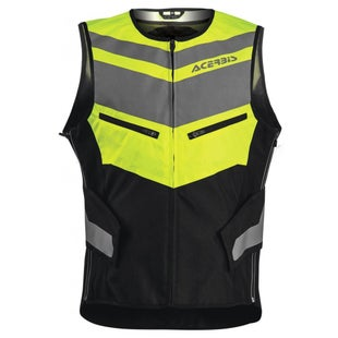 Acerbis Dual Road Highway Vest Torso Protection - Fluo Yellow