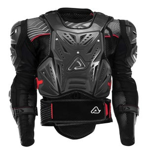 Acerbis MX Motocross Cosmo 20 Body Armour Torso Protection - Black Red