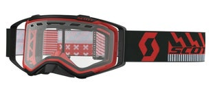 Scott Sports Prospect Enduro Goggles Vented Lens Motocross Goggles - Black Red