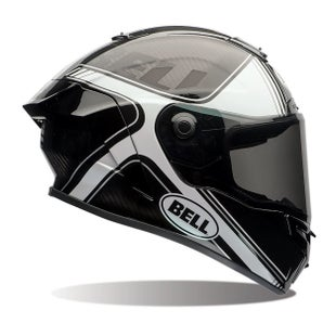 Bell Race Star Road Helmet - Tracer Gloss Black White