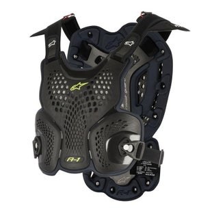 Alpinestars A1 MX Motocross Roost Guard Chest Protection - Black Anthracite