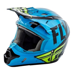 Fly Kinetic Burnish MX Blue Black Hi Motocross Helmet - Vis