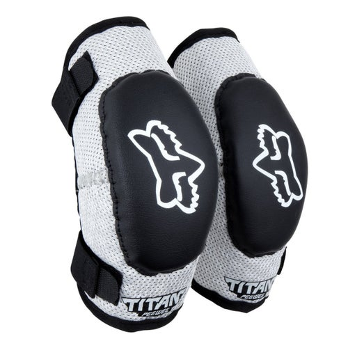 Fox Racing Peewee Titan Elbow Protection - Black Silver