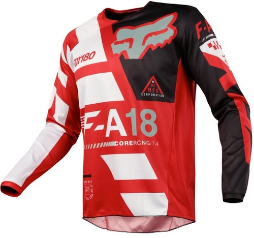 Fox Racing 180 Sayak Motocross Jerseys - Red