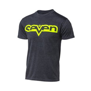 Seven Casual 181Brand Boys Short Sleeve T-Shirt - Heather Grey Fluo Yellow