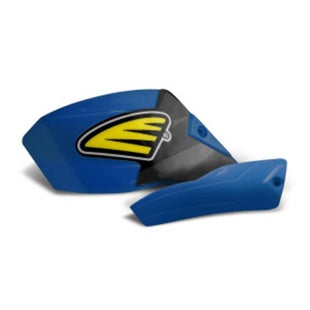 Cycra Ultra Pro Bend Low Cover Replacement MX Hand Guard - Husqvarna Blue