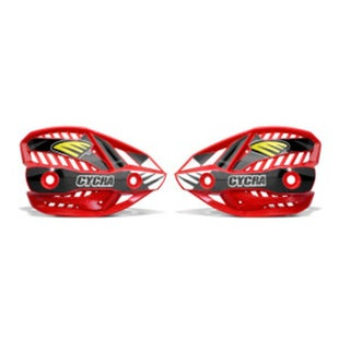 Cycra Ultra Pro Bend Upper Shield Replacement MX Handguard Spares - Red