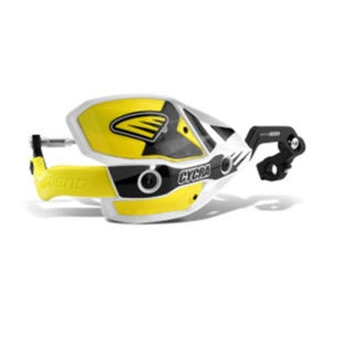 Cycra New ULTRA Probend CRM Wrap Around Handguards MX Hand Guard - White Yellow