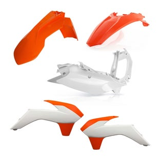 Acerbis Basic Plastic Kit KTM EXCF 400 1416 Plastic Kit - Replica Orange White
