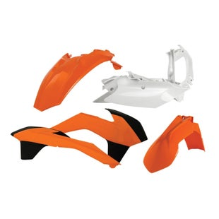 Acerbis Basic Plastic Kit KTM EXCF 400 1416 Plastic Kit - Replica Orange White Black