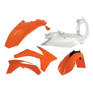 Acerbis Basic Plastic Kit KTM EXCF 400 1213 Plastic Kit - Replica Orange White