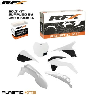 RFX Plastic Kit KTM White SXF250 350 450 13 Plastic Kit - 15 (6 Pc Kit) w Airbox Covers