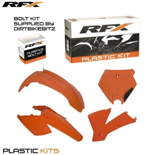 RFX Plastic Kit KTM Orange EXC F 125 Plastic Kit - 525 2004 (5 Pc Kit)