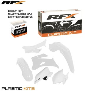 RFX Plastic Kit Yamaha White WRF450 07 Plastic Kit - 11 (4 Pc Kit)