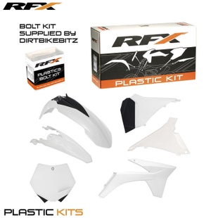 RFX Plastic Kit KTM White SXF250 350 450 11 Plastic Kit - 12 (6 Pc Kit) w Airbox Covers