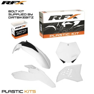 RFX Plastic Kit KTM White EXC F 125530 08 Plastic Kit - 11 (4 Pc Kit)
