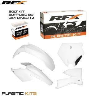 RFX Plastic Kit KTM White EXC F 125525 05 Plastic Kit - 07 (4 Pc Kit)