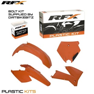 RFX Plastic Kit KTM Orange EXC F 125525 05 Plastic Kit - 07 (4 Pc Kit)