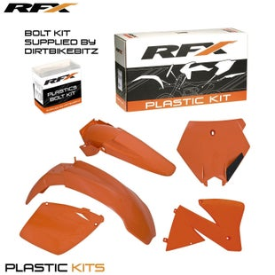 RFX Plastic Kit KTM Orange EXCEXCF 125520 00 Plastic Kit - 02 (5 Pc Kit)