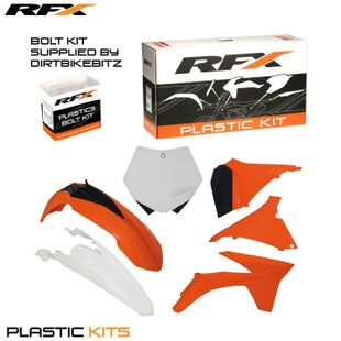 RFX Plastic Kit KTM OEM SXF250 350 450 11 Plastic Kit - 12 (6 Pc Kit) w Airbox Covers